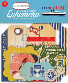 Let's Cruise Ephemera Frames & Tags - Carta Bella