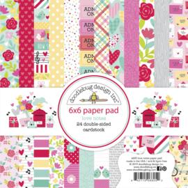 6x6 Paper Pad Love Notes - Doodlebug
