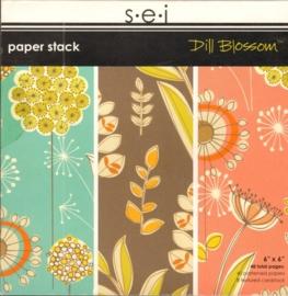 """Dill Blossom Paper Stack 6"""" x 6"""" S.E.I."""