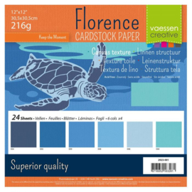 Cardstock Multipack Blauw 12x12 - Florence