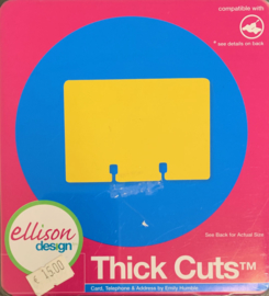 Thick Cuts Card, Telephone & Address - Allison Design