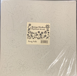 Spring Chicken Chipboard Accents - Rusty Pickle