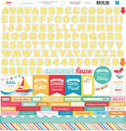 I Love Sunshine Alpha Stickers 12x12 Echo Park
