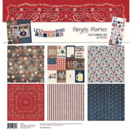 12x12 Simple Set - Let Freedom Ring Collection