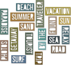 Vacation Thinlits Block by Tim Holtz - Sizzix