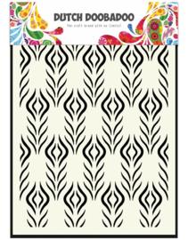 Floral Feather Mask A5 - Dutch Doobadoo