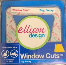 Window Cuts Tag Funky - Allison Design