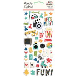 Family Fun Puffy Stickers - Simple Stories