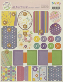 All year Colour Cardstock Stickers - Scrappy Cat