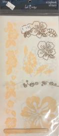 Scrapbook Scenery Hibiscus 1 Rub-ons - Heidi Swapp
