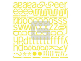 Mini Monogram Stickers - Offbeat Collection Basic Grey