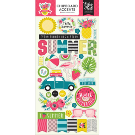 Summer Fun Chipboard Accents Echo Park
