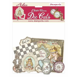 Alice Through the Looking Glass Clear Die Cuts - Stamperia