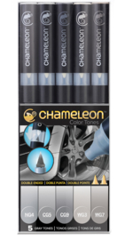 Gray Tones Double-ended Alcohol Pen - Chameleon