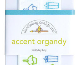 Accent Organdy Birthday Boy Doodlebug Design