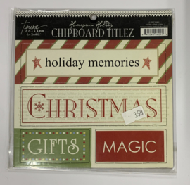 Homespun Holiday Chipboard Title by Teresa Collins - Junkitz