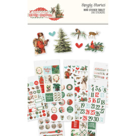 Country Christmas Mini Sticker Tablet 390 Stickers - Simple Stories