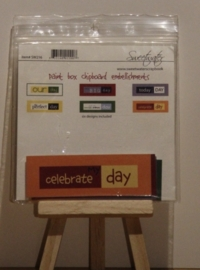 Paint Box Chipboard embellishments Sweetwater