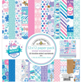 Winter Wonderland 12x12 Paper Pack - Doodlebug
