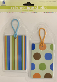 Rob and Bob Studio Plastic Tags Go-Go Retro - Povo Craft