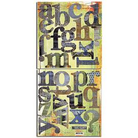 Monograms Die-cuts - Vagebond Collection Basic Grey