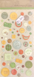 Epoxy Buttons & Shapes Lemon Grass Collection - Crate Paper