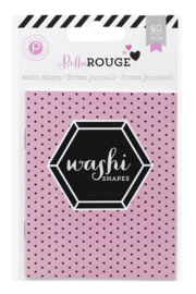Bella Rouge Washi Shapes Pink Paislee