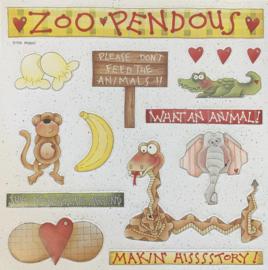 Die-Cut Sheet Zoo Pendous - Provo Craft