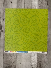 Studio Basics 101 Green Swirls - Creative Imaginations