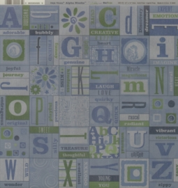Alpha Blocks Blue/Green Vellum
