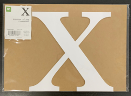 "X Chipboard Letters 8"" - Making Memories"