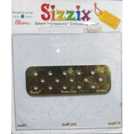 Embossing Folder Border Dots - Sizzix