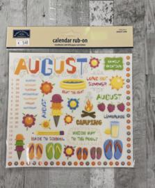 Calendar Rub-ons August - Karen Foster