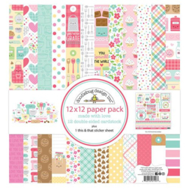 Made with Love 12x12 Paper Pack - Doodlebug