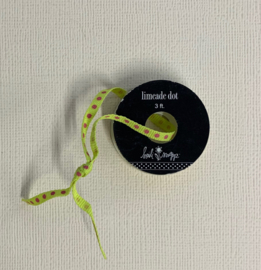 Limeade Dot Ribbon 3ft - Heidi Swapp