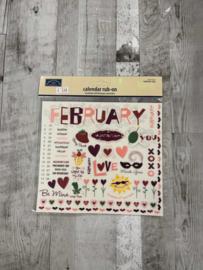 Calender Rub-ons February - Karen Foster