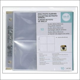 "Insta Photo Sleeves (pageprotectors) 4"" x 4"" - 4 x 2"" x 2"""