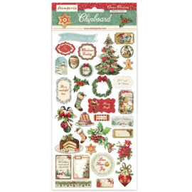 Classic Christmas Chipboard Stickers - Stamperia