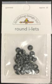 Round I-Lets Gummetal