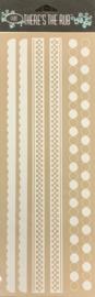 Borders 1 White Rub-Ons - Luxe Design