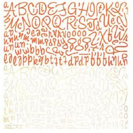 Alphabet Stickers - Ambrosia Collection Basic Grey