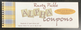 Alpha Coupons Dad and Brother Alphabets- Rusty Pickle