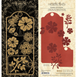 Large Tag, ATC Tag & Flower Die Graphic 45