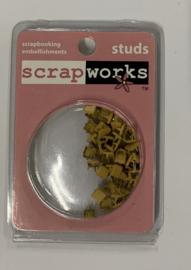 Studs Square Yellow - ScrapWorks