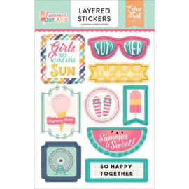 Summer Dreams Layered Stickers Echo Park