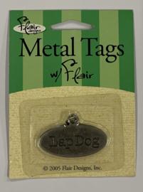 Metal Tag Lap Dog - Flair Designs