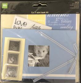 "5"" x 7"" Mini Book Kit Baby Boy"