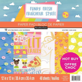 Funky Fresh Paper Pad 12x12 - Craft Smith/Recollections