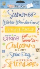 Wonderful Words Rub-Ons Color Splash Seasons Deja Views