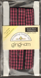 Gingham Beetle Black Bubblegum Doodlebug Design